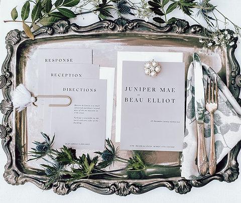 Custom Wedding & Elopement Invitation Suite