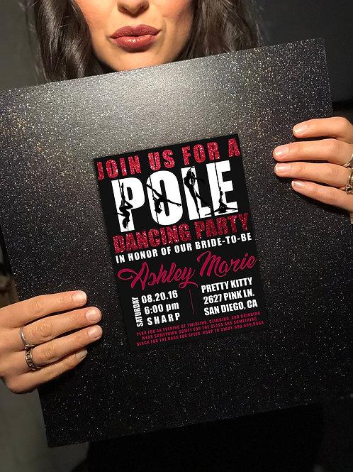 EDITABLE Pole Party Invite