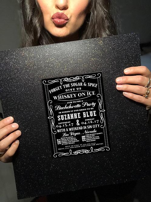 EDITABLE Whiskey Girl Party Invite