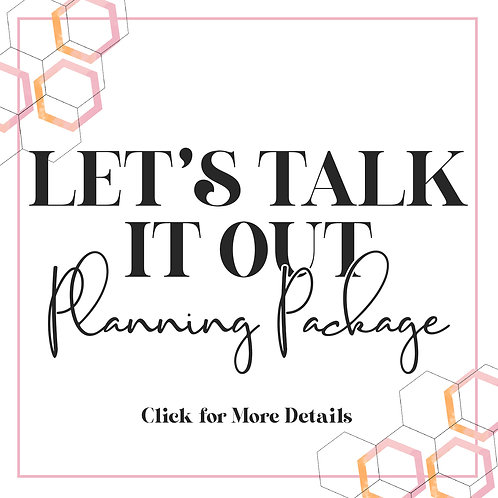 Let's Talk It Out Planning Package