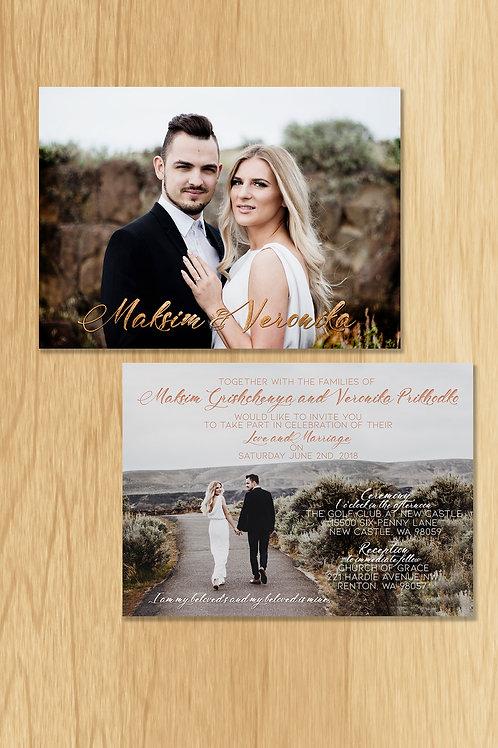 Veronica - Wedding Invite
