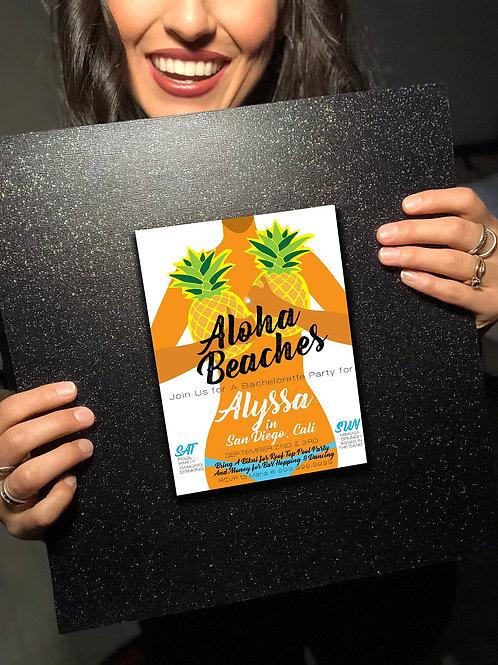 EDITABLE Aloha Beaches Party Invite