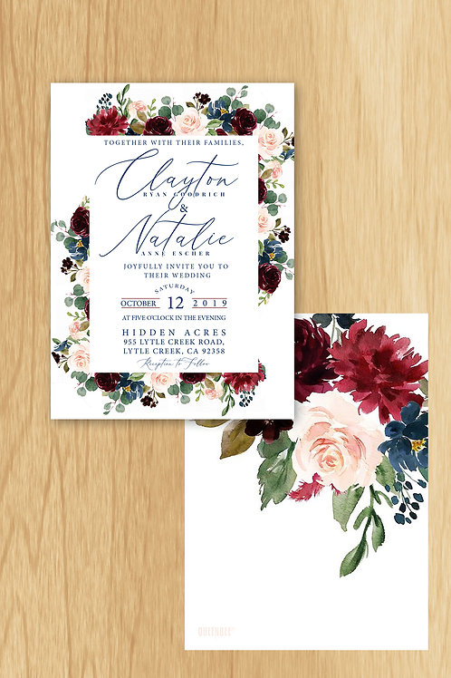 Natalie- Wedding Invite