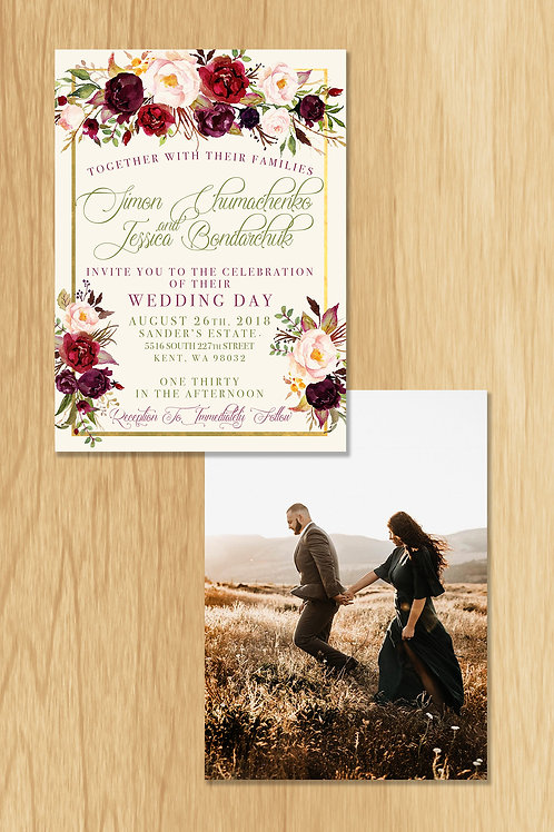 Jessica - Wedding Invite