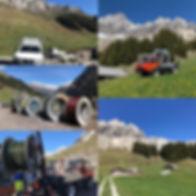 Erschliessung von ca. 40 Alphütten auf d