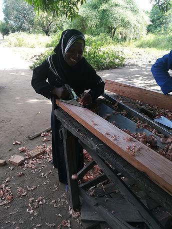 female carpenter, malawi