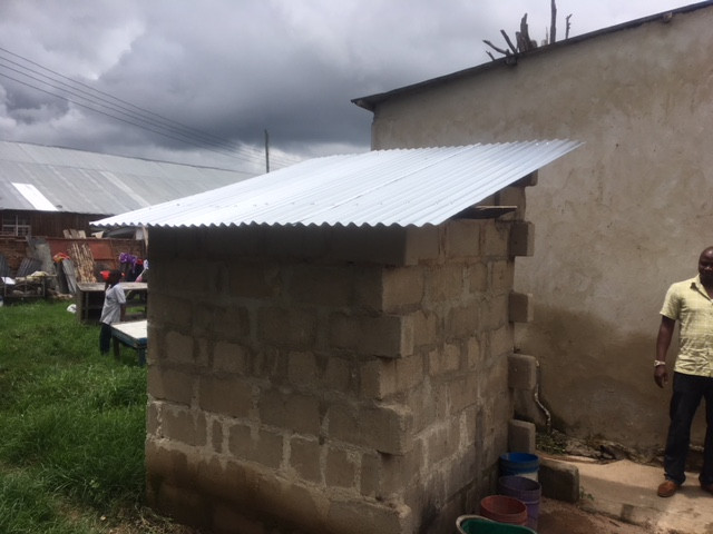 Roof for toilet