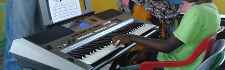 Early keyboard lesson