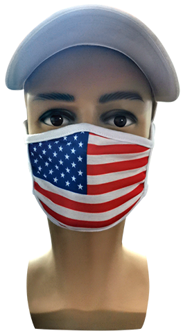 12538   2-Ply Sublimated Face Mask, Custom