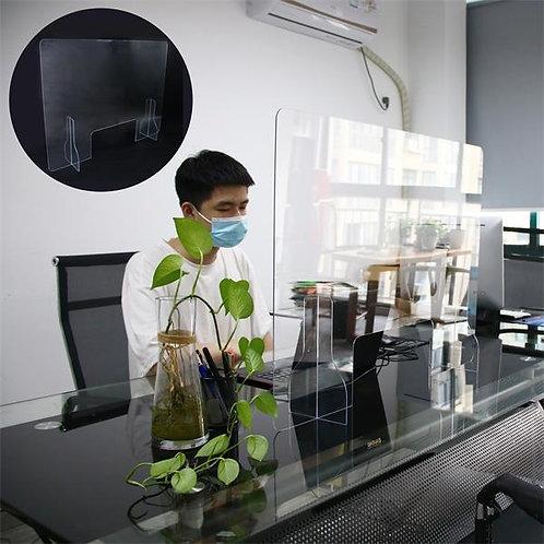 AP-FMK015ST Protective Clear Sneeze Guard Desk Divider