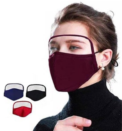 HWF-030 Cloth Mask with Eye Shield