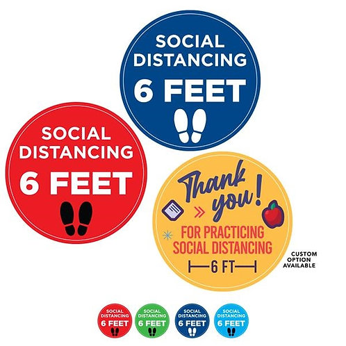 "ASPIN-M-FDCSM 12"" Small: Social Distancing Circle Floor Decal"