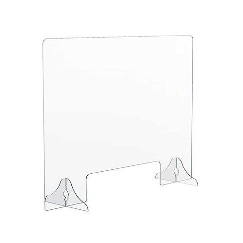 """94031 1/8"""" Thick Distancing Barrier With Acrylic Legs"""