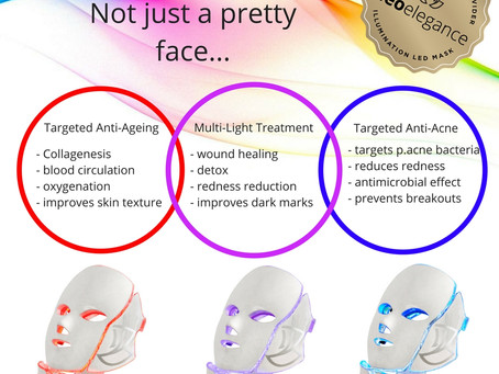 LED light therapy masks can help you look younger...