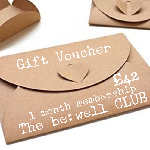 1 Month Membership - The be:well CLUB