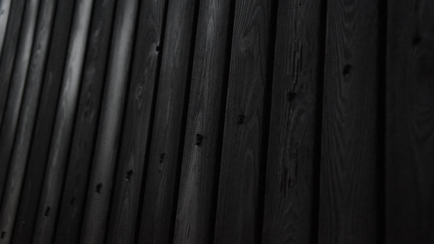 Bardage en bois brûlé