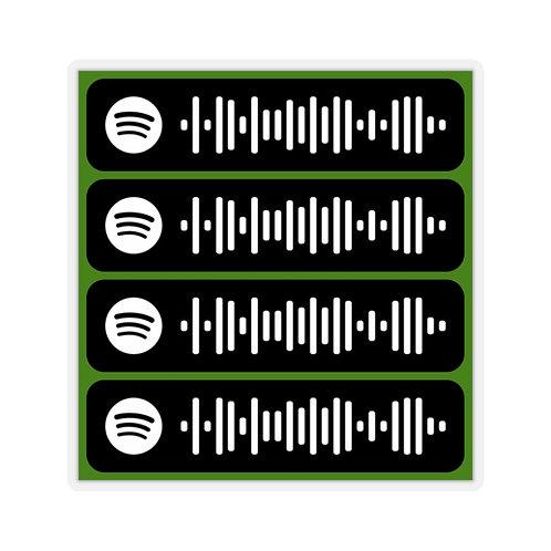 Spotify Scan Codes Sticker