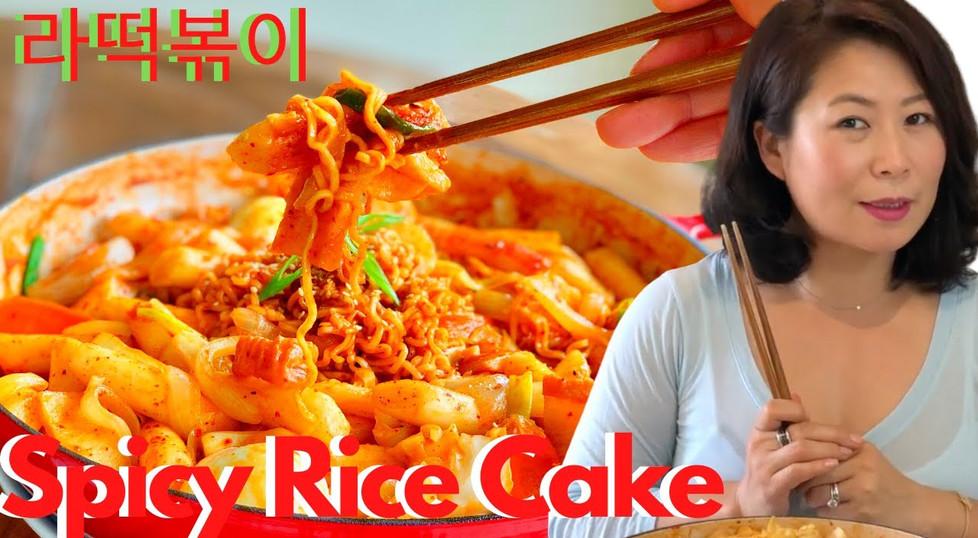 Spicy Rice Cake (Tteokbokki 떡볶이)+ Ramen (RaBokki 라떡볶이)+ 🌶 SPICY MIXED RICE Recipe + Mukbang; (떡볶이 황금레시피); (떡볶이 만들기)