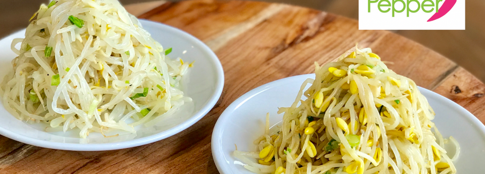 SoyBean & Myung Bean Sprout Side Dish (KongNaMul & SukJuNaMul-MuChim 콩나물-숙주나물무침)