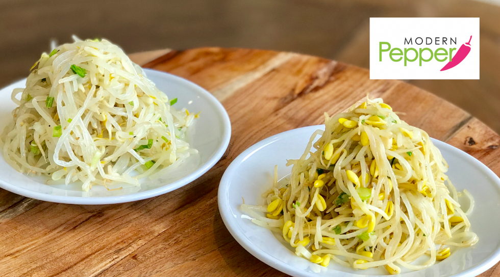 Soybean Sprouts & Mung Bean Sprouts Side Dish/Banchan (콩나물 & 숙주나물무침)