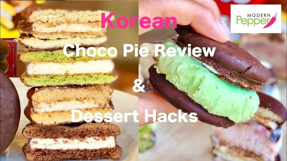 Korean Desserts: Choco Pie 초코파이 (Moon Pies) 4 Flavors Review + [DESSERT HACKS] [ICE CREAM SANDWICH]