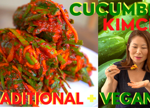 Cucumber Kimchi: Oi-sobagi (오이소박이 레시피) 🇰🇷Traditional/전통 & 🌱Vegan/채식 Recipes + Mukbang/먹방