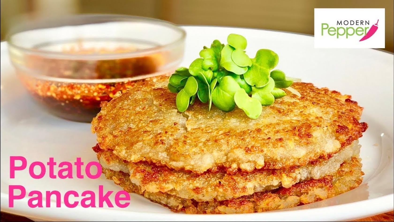 Korean Potato Pancake (Gamjajeon: 감자전)