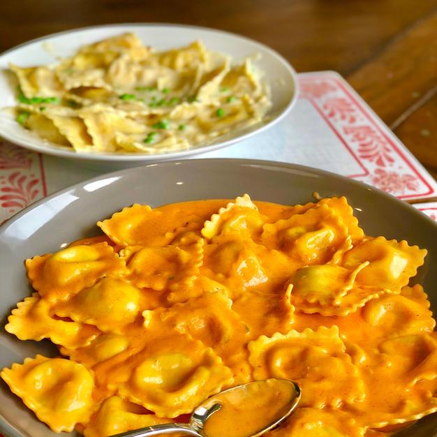 Creamy & Spicy GoChuJang Ravioli Sauce