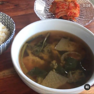 🌱Soybean Paste Spinach Soup/시금치 된장국