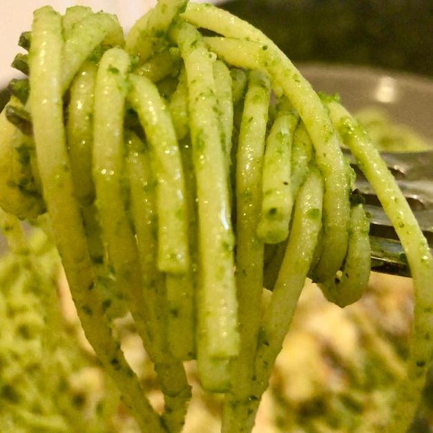 Nut-Free Pesto Sauce With Roasted Garlic