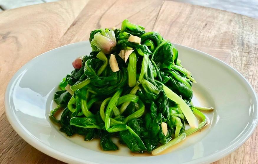 Korean Spinach Side Dish/Banchan/반찬 (Sigeumchi-namul 시금치무침)
