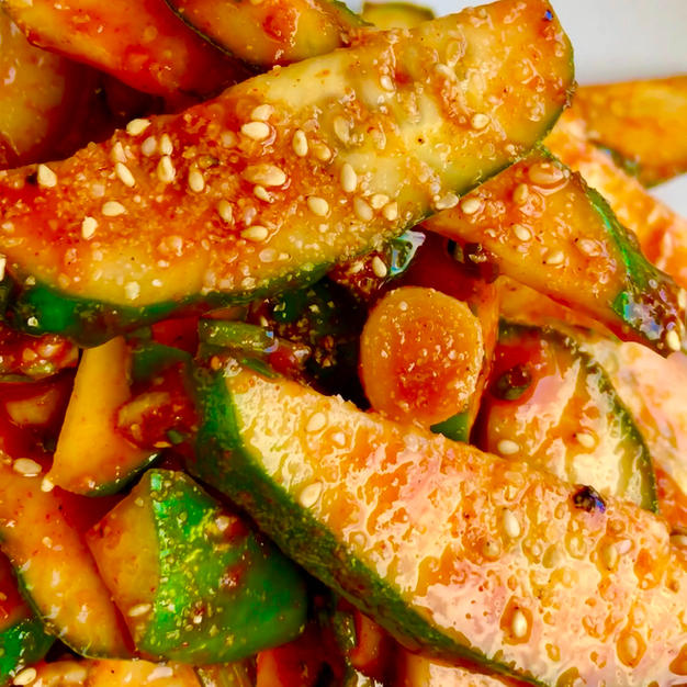 🌱🥒Cucumber Side Salad: OiMuChim/오이무침