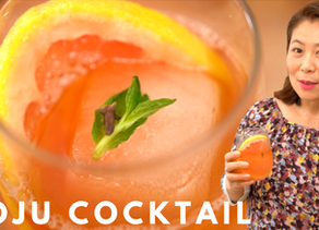 Soju Cocktail Recipe: Fresh Grapefruit Cocktail (소주 칵테일 레시피) 자몽소주 칵테일 만들기