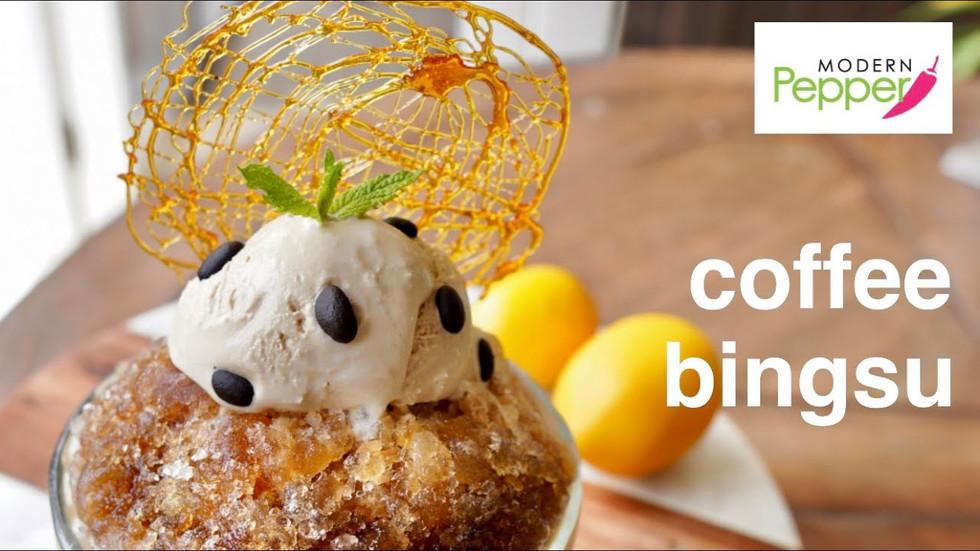 Coffee Bingsu: Korean Shaved Ice Dessert | NO Ice Shaving Machine Needed! 빙수 w/ Aero Press Coffee