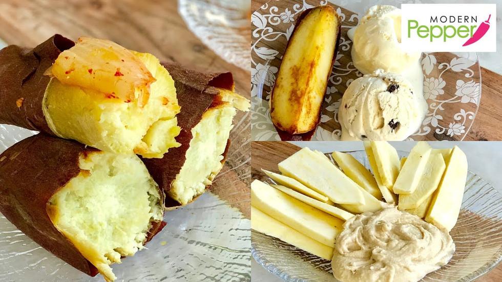 Korean Snack: Roasted Sweet Potato Snack (GoGuMa 고구마) & A La Mode Dessert [SWEET POTATO HACKS]