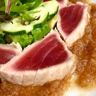 Peppery & Refreshing 🇰🇷Korean Radish/Mu/무 Dressing W/ Seared Tuna & Avocado 🥑 Salad. (참치 샐러드)
