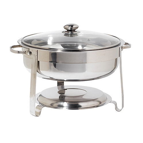 4 Qt Round Stainless Steel Chafer