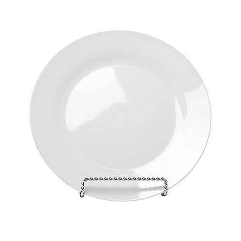 White China Rim Chop Plate