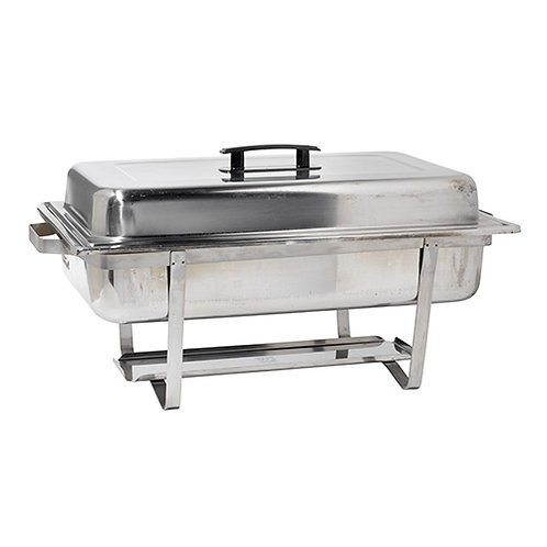 8 Qt Oblong Stainless Steel Chafer