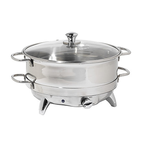 6.5 Qt Round Electrical Stainless Steel Chafers
