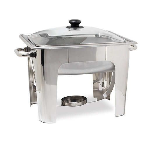 4 Qt Square Stainless Steel Chafer