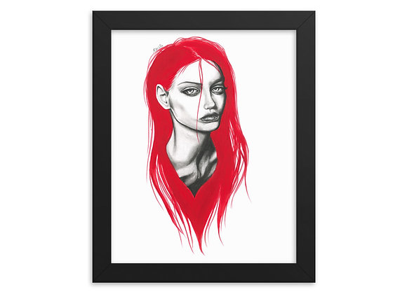 """""""Red"""" Framed Print"""