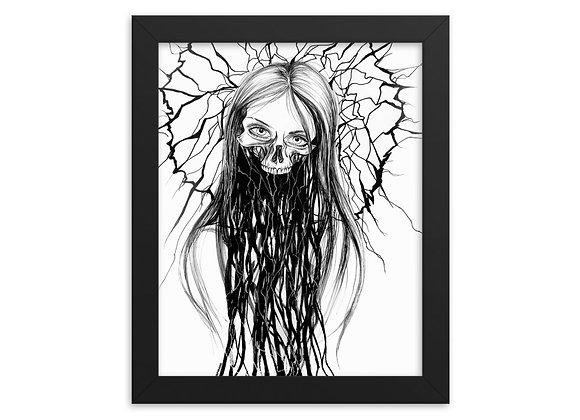 """""""Cracked"""" Framed Print"""