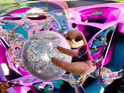 Sloth Disco Sticker