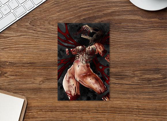 """Blood Wings"" Standard Postcard (cropped)"