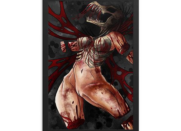 """Blood Wings"" Framed poster"