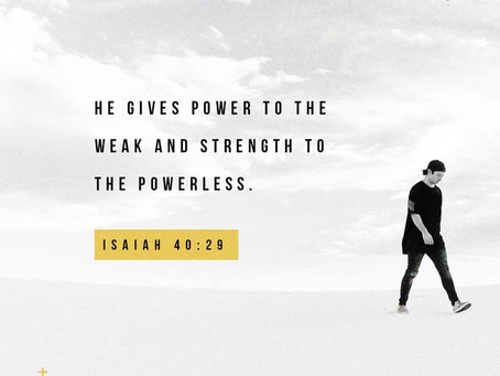 Weary and Weak