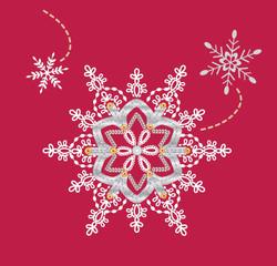 ribbon snowflake swirl