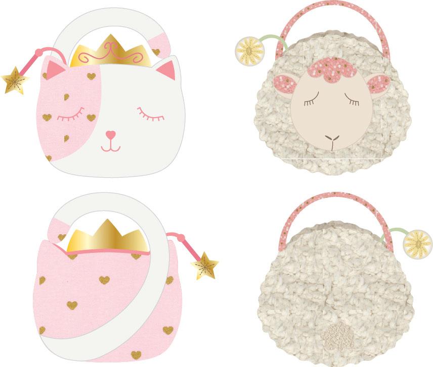 plush lamb-kitty bag render