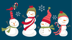 festive snowmen